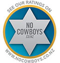 We also rate well on the consumer protection web site www.nocowboys.co.nz.