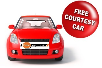 Free Courtesy Car – Guaranteed!